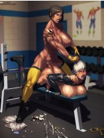 Xxx toon pics of busty blonde cheerleader willingly practicing her black cock blowing skills.